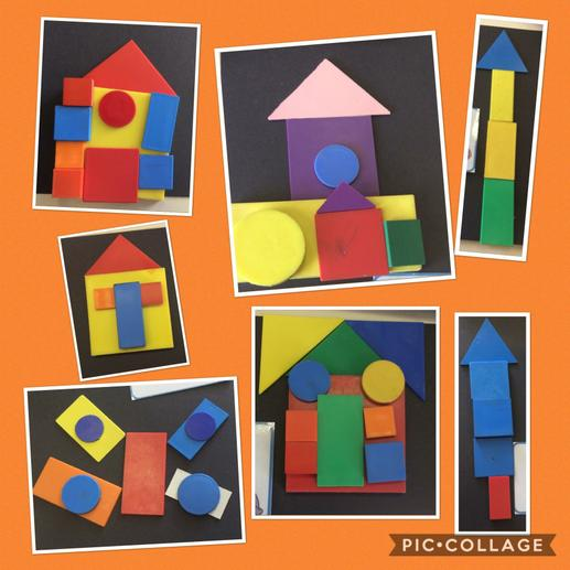 Shape pictures using 2D shapes.