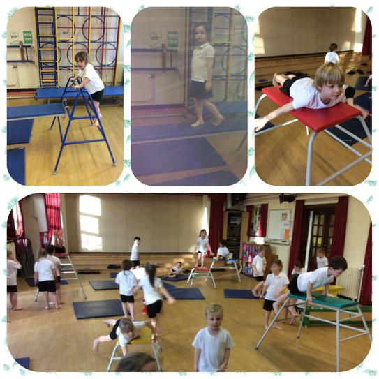 Gymnastics for our PE sessions