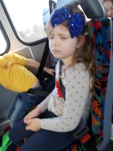 We were all sleepy on the way home!