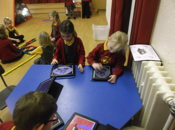 Using the learn pads.