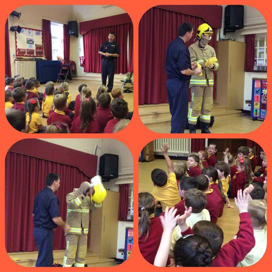 Firefighter visit - 'People who help us' topic