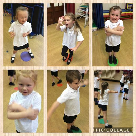 Beans game warm up in PE.