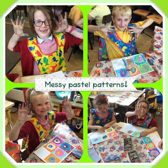 We loved using pastels!