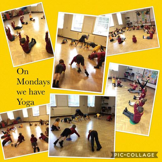 We love yoga with Miss Vicky.