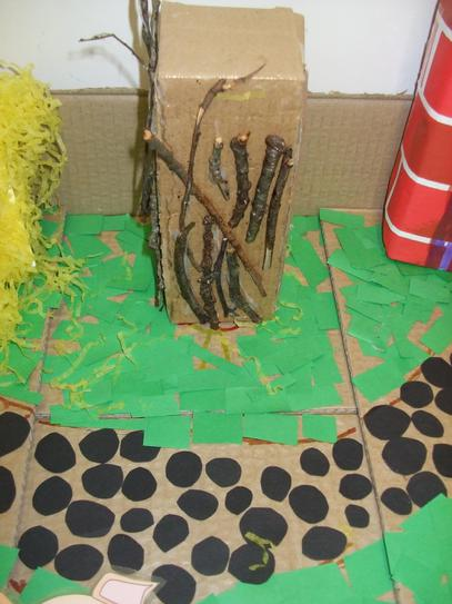 This little pig built his house of sticks,