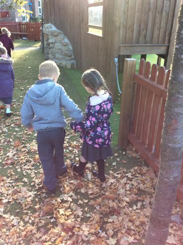 Signs of autumn walk.  Crunch crunch!