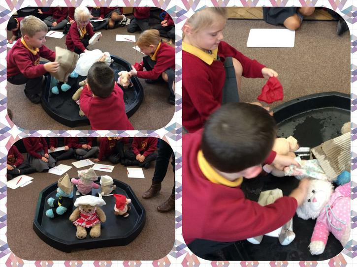 We did a waterproofing experiment on our teddies!