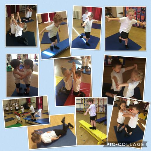 Balancing and travelling in PE.