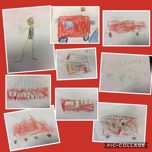 Fire engine drawings