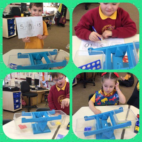 Missing number activity in Maths.