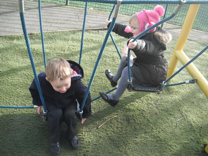 Playing outside with our friends