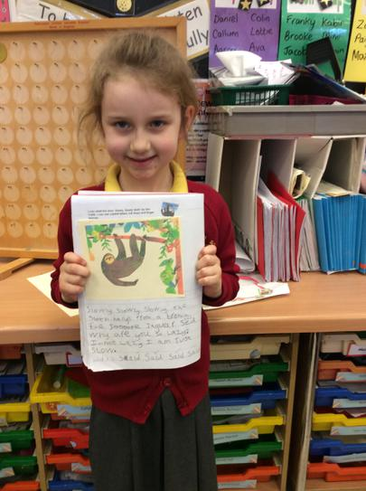 English- writing about a sloth.