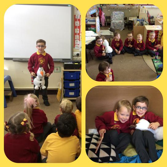 Olaf show and tell