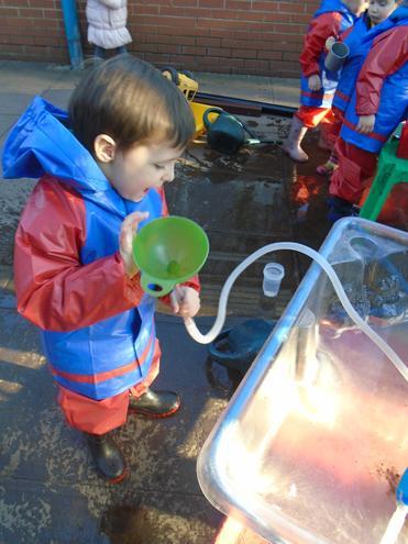 Transporting water.