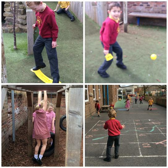 Outdoor play in Year 1.