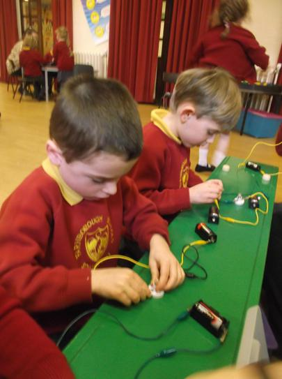 Making electrical circuits.
