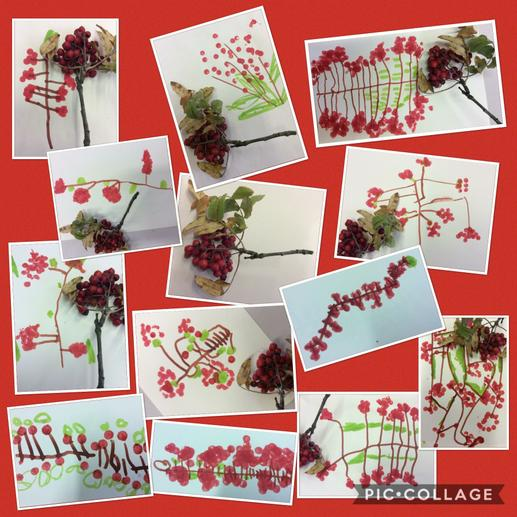 Autumn berry art activity.