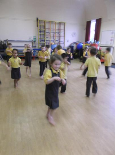 Dance and movement for a Show and Tell.