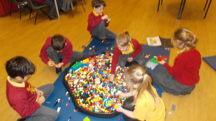 Model making with lego.