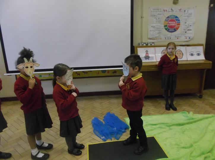 Drama performance of 3 Billy Goats.