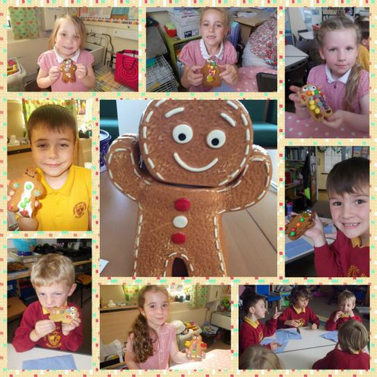 We enjoyed decorating our gingerbread men!
