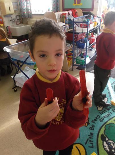 Phonic lightsabers for writing in the air.