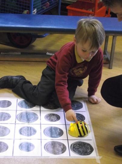 Using the bee-bots.