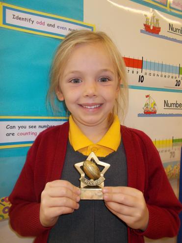 A very proud little girl!