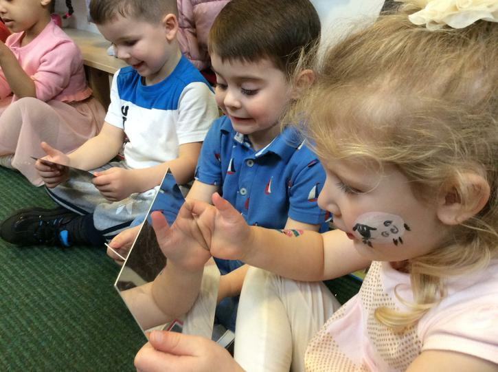 Using mirrors to help with voice sounds.