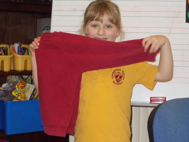 My symmetrical sweatshirt!