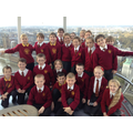 At the top of the London Eye