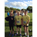 Girls supporting Zac as our only Year 6 boy runner