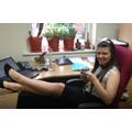 Taryn settling into her office