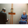 Lucian Freud painting Queen Elizabeth IIphotographed by David Dawson, 2006.