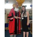 Taryn greets the Mayor of Sefton