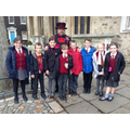 Meeting the Yeoman Warders at the Tower of London