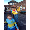 woody and Horrid Henry at playtime