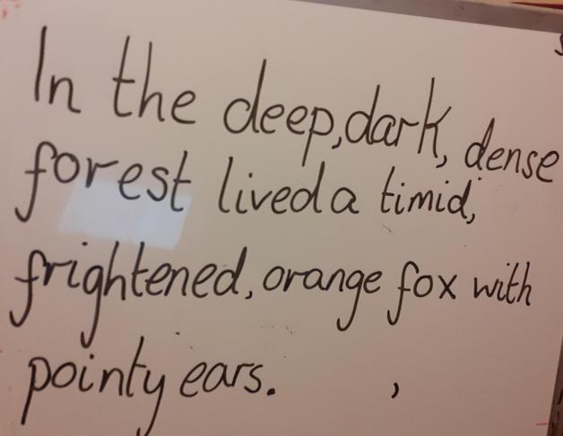 Oak's English shared writing