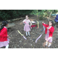 Playing in the wind with streamers