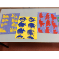 We have been busy creating our first paintings.