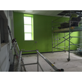 Lime green paint has been added to Y6 classroom