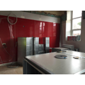 Anti-bacterial walls are in place in kitchen