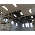 Hall ceiling and lighting being done