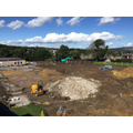 New site continues at the back of school