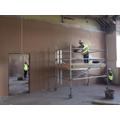 Plastering classroom walls