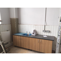 Sink units are being installed in classrooms