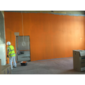 Teaching wall being painted