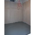 Y1 toilets plastered and concrete floor done