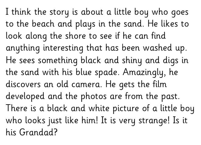 Example prediction for the story 'Flotsam'