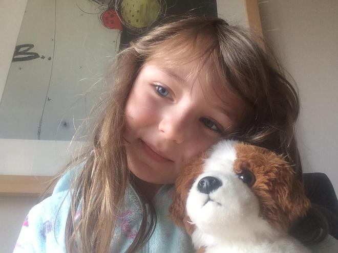Jessica loving Home learning with her pets!